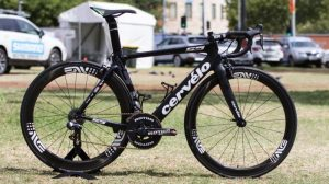 Black Cervelo with ROTOR 2INpower power meter