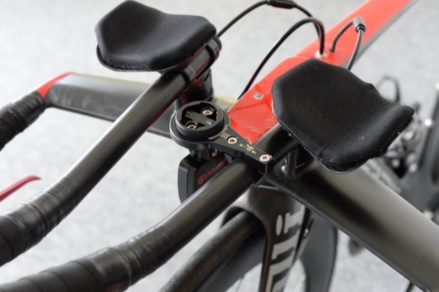 Image of PowerPod Combo TT Garmin/PowerPod Mount with power meter attached