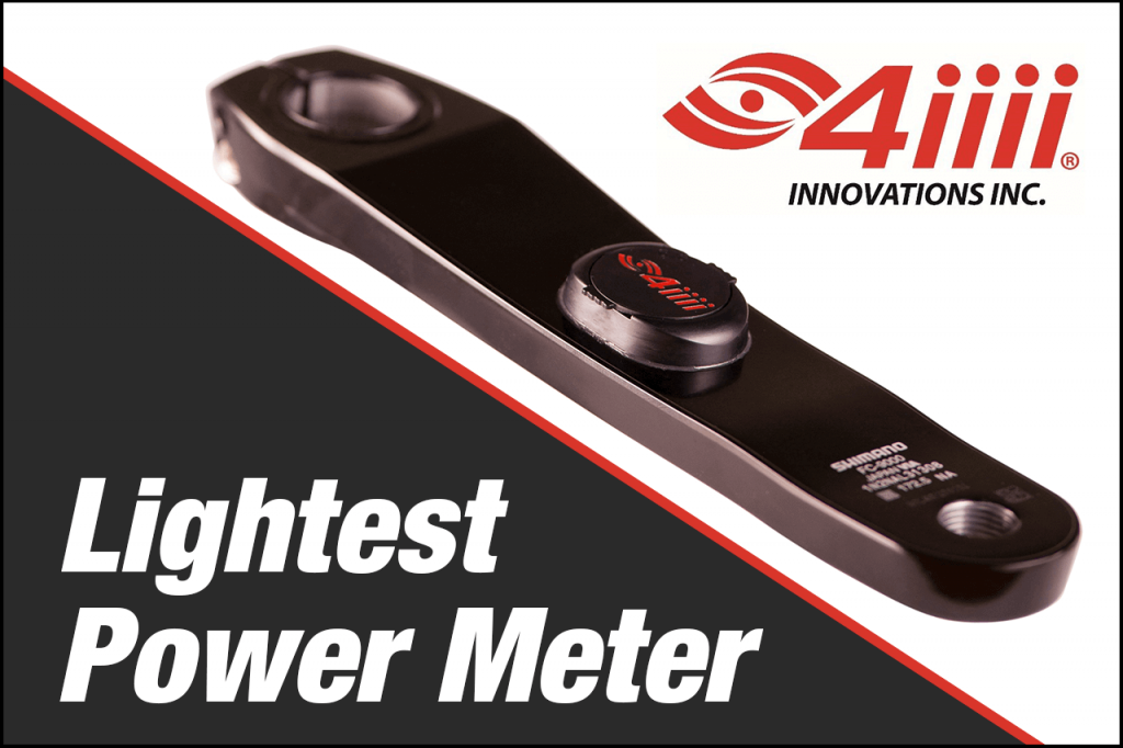 Banner image of the 4iiii Power meter, which is the lightest power meter you can buy