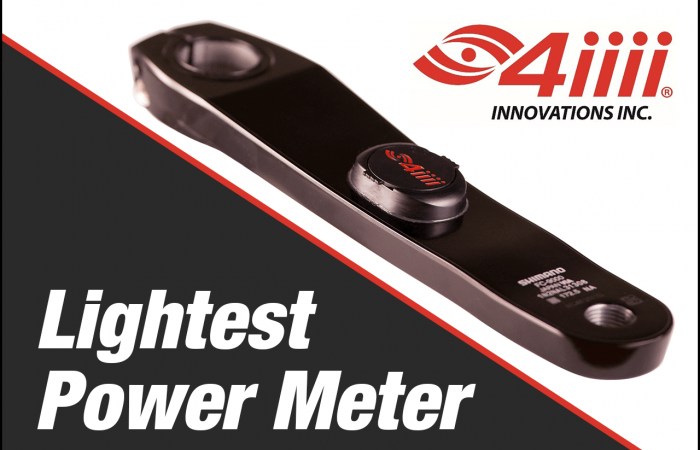 Banner image of the 4iiii PRECISION Power meter, which is the lightest power meter you can buy