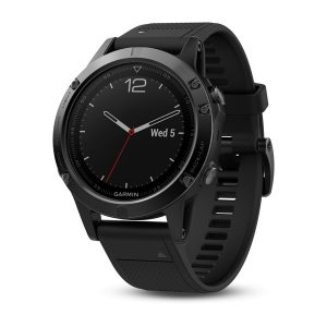 Garmin fenix 5 GPS Watch - Sapphire Black/Black Band