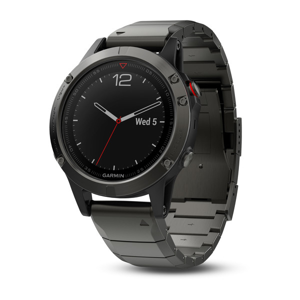 Garmin fenix 5 GPS Watch - Sapphire Slate Grey/Metal Band