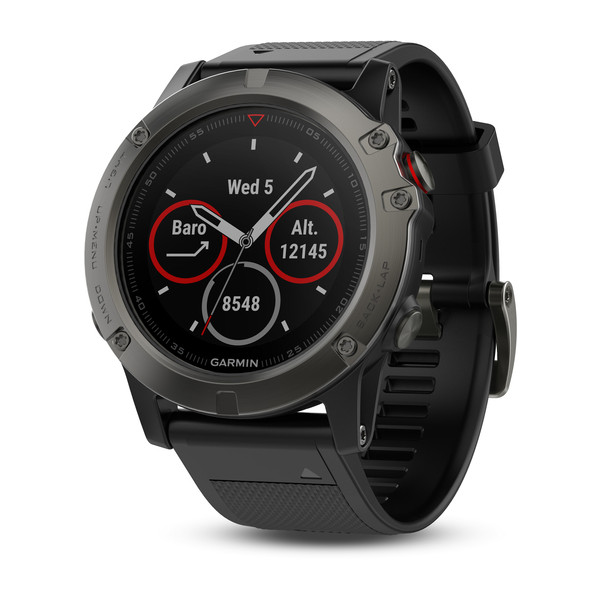 Garmin fenix 5X GPS Watch - Sapphire Slate Grey/Black Band