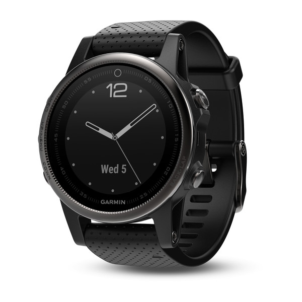 Garmin fenix 5S GPS Watch - Black Sapphire with Black Band