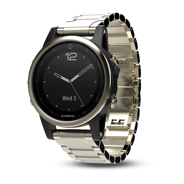 Garmin fenix 5S GPS Watch - Champagne Sapphire with Metal Band