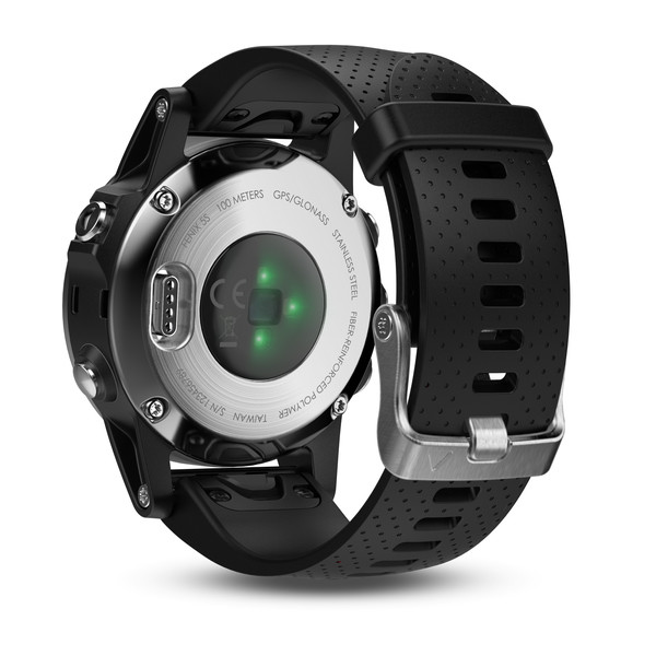 Garmin fenix 5S GPS Watch - Silver with Black Band