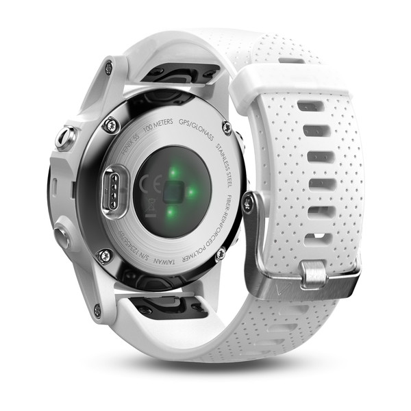 Garmin fenix 5S GPS Watch - White with Carrara White Band