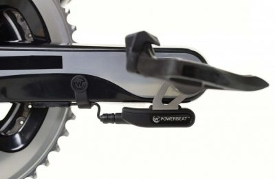 The WATTEAM POWERBEAT Power Meter installed on a Shimano crankset