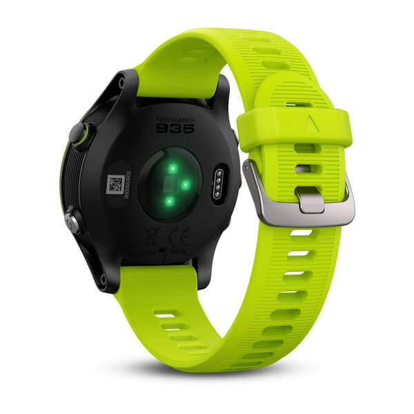 Garmin Forerunner 935 GPS Watch - Tri-bundle (Black with Yellow Straps)