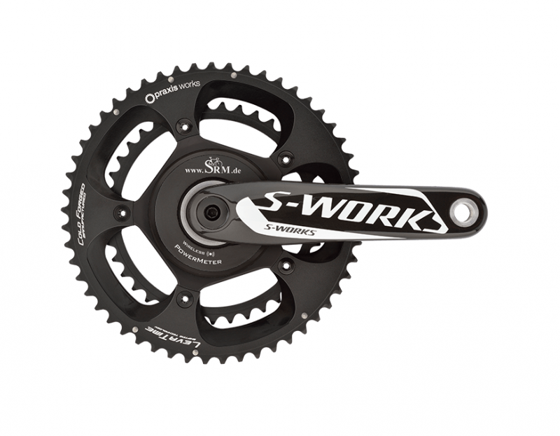 Image of the SRM Specialized S-Works Power Meter with Praxis Works chainrings