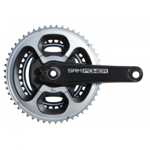 Front image of SRM Origin Road Carbon Power Meter with DURA-ACE 9000 chainrings