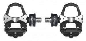 Top view of a pair of Favero Assioma power meter pedals