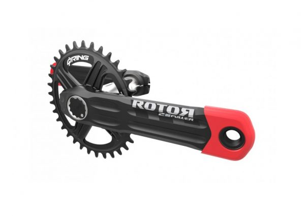 ROTOR 2INpower MTB power meter with red boots