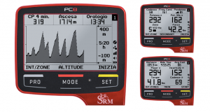 Red SRM PC8 with different data screens