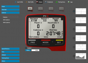 SRM PC8 set up page