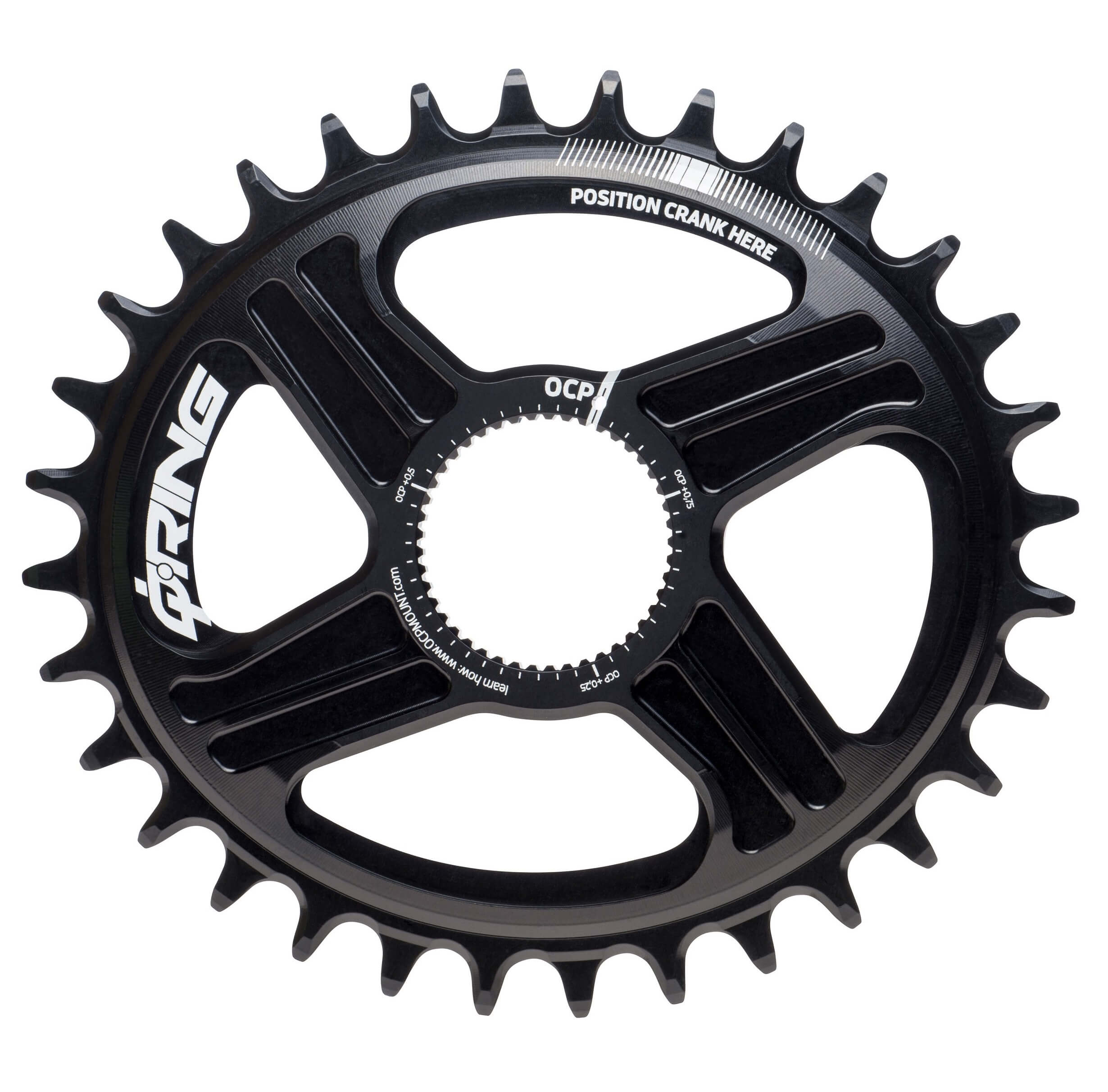 ROTOR DM QRINGS OVAL CHAINRING SRAM BB30 DIRECT MOUNT SINGLE