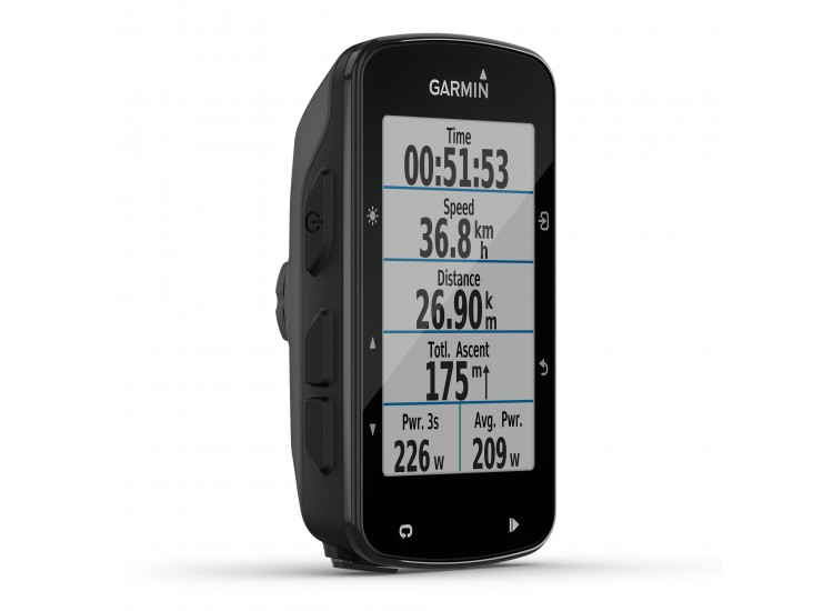 Garmin Edge 520 Plus view from front and side