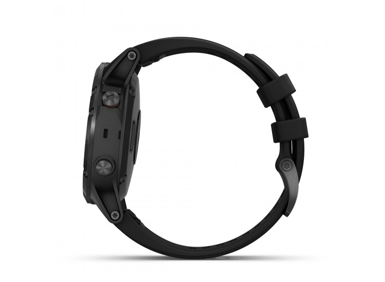 Garmin fenix 5 Plus GPS Watch - Sapphire Black with Black Band