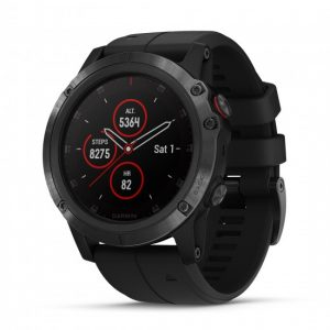 Garmin fenix 5X Plus GPS Watch - Sapphire, Black with Black Band