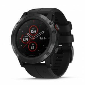 Garmin fenix 5X Plus GPS Watch - Sapphire, Black with Black Band