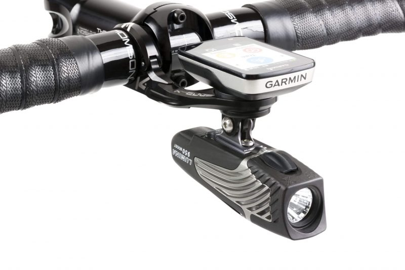 K-EDGE Garmin Pro Combo Mount with a Garmin Edge 520 and light
