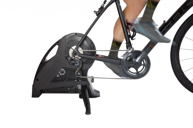 CycleOps H2 Direct Drive Smart Trainer with bike attached