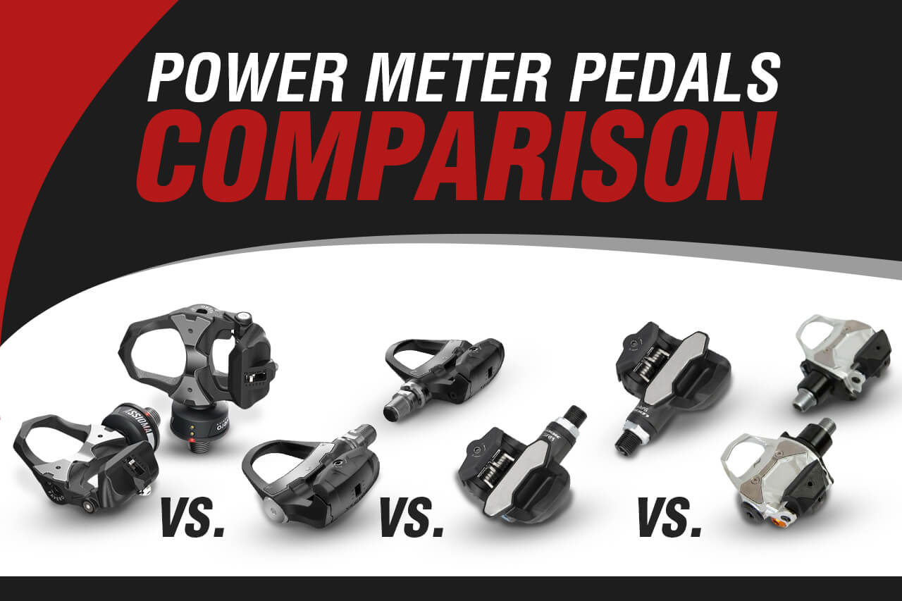 Our banner image for our power meter pedals comparison article