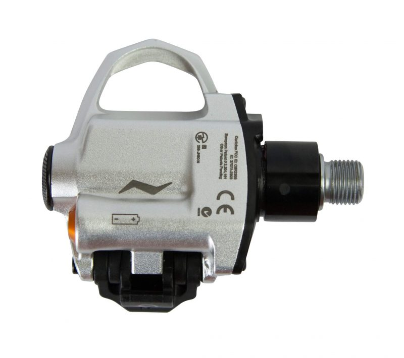 Bottom view of the PowerTap P2 Pedals
