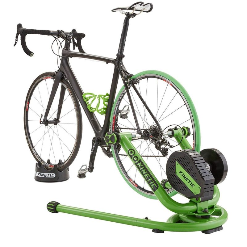 Kinetic Rock and Roll Control Trainer with bike attached