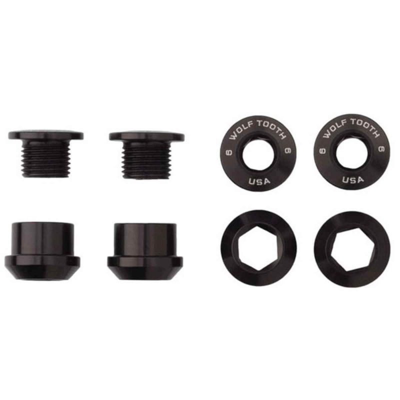 Wolf Tooth Components 1x Chainring Bolts - Black