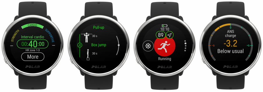 Polar Ignite GPS Fitness Watch - Muli-Screen Image