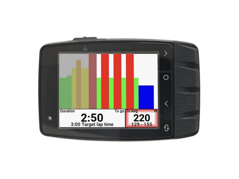 Stages Dash M50 Cycling Computer with horizontal screen layout