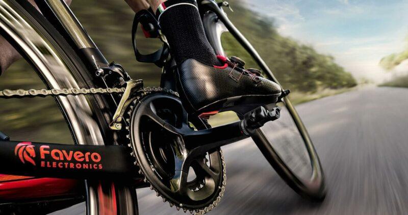 Favero Assioma DUO on a road bike