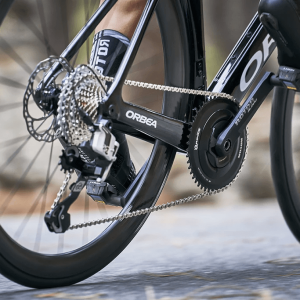 ROTOR INspider ALDHU Road Power Meter Crankset on a road bike