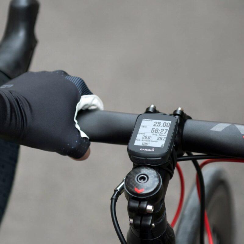 Garmin Edge 130 mounted on a bike