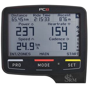 SRM PowerControl 8 (PC8) Cycling Computer - Black