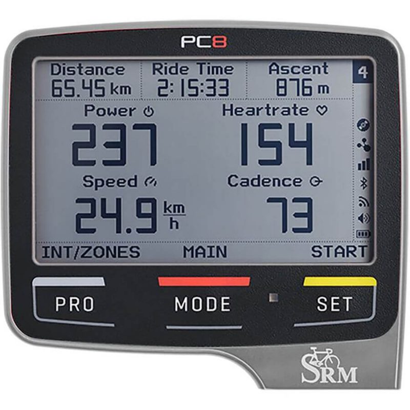 SRM PowerControl 8 (PC8) Cycling Computer - Polished Silver