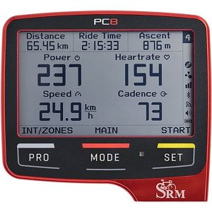 SRM PowerControl 8 (PC8) Cycling Computer - Red
