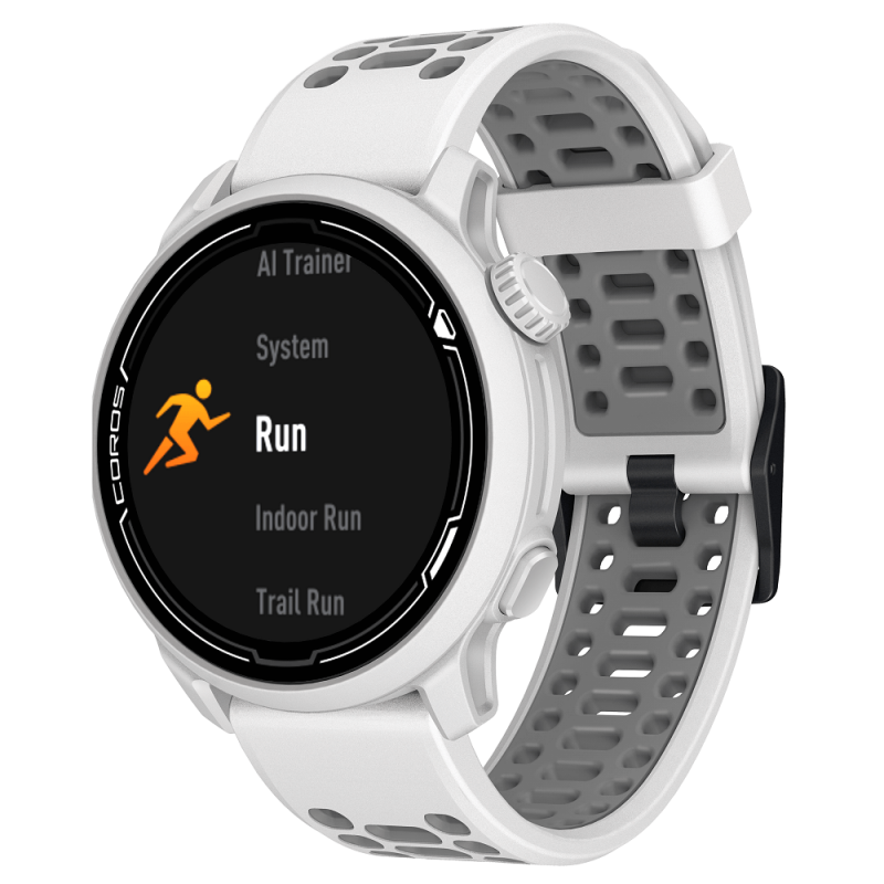 Coros Pace 2 GPS Watch - White with Silicone Band