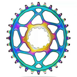 absoluteBLACK Oval Boost PVD Rainbow Chainring for SRAM