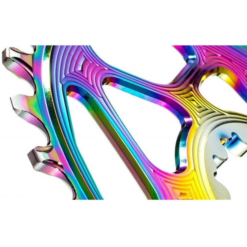 absoluteBLACK Oval Boost PVD Rainbow Chainring for Shimano