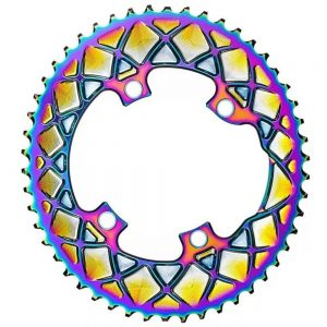 absoluteBLACK Premium Oval PVD Rainbow Chainrings for Shimano