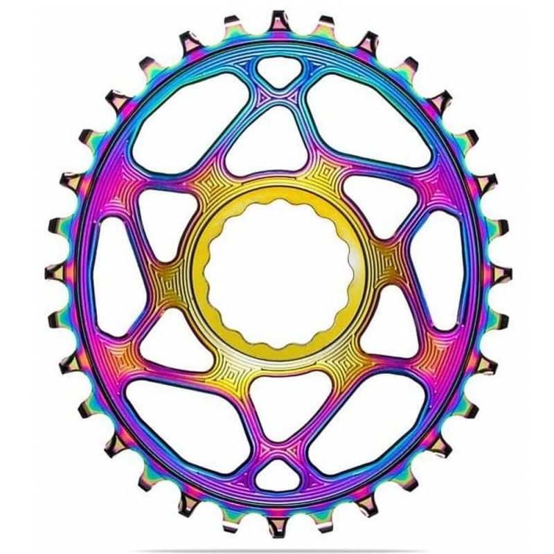 absoluteBLACK Oval Boost PVD Rainbow Chainring for Race Face