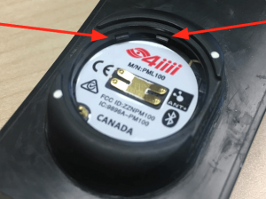 Locking tabs on 4iiii power meter battery compartment