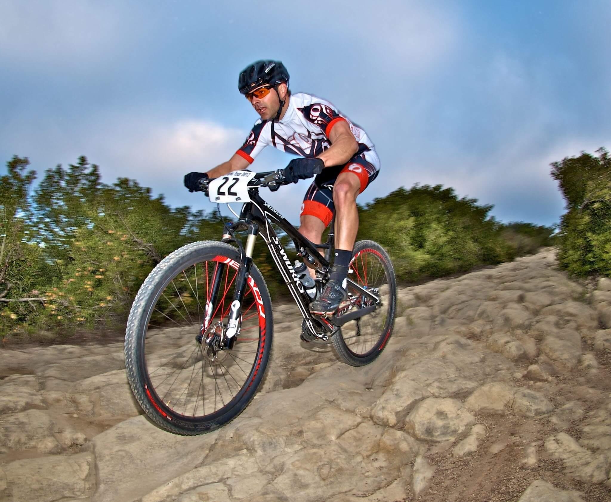 Image of Josh Matthew riding his mountain bike